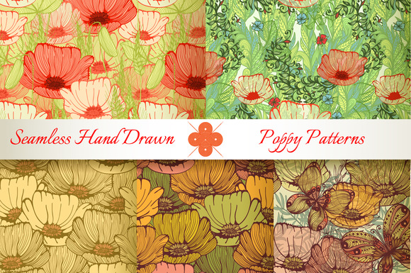 5 Patterns With Poppy Flowers