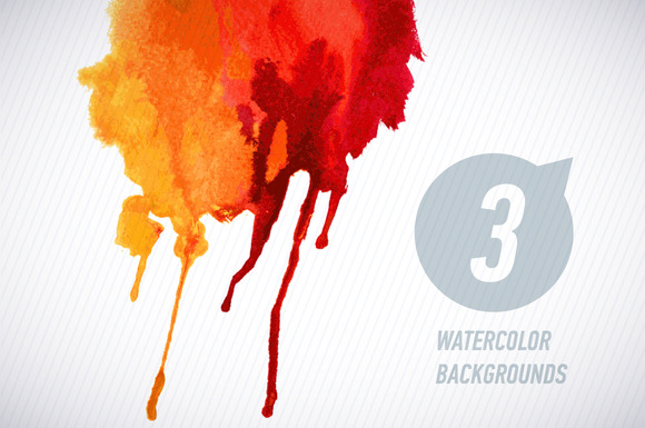 Vector Watercolor Spot Set