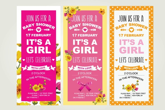 3 Baby Shower Invitations
