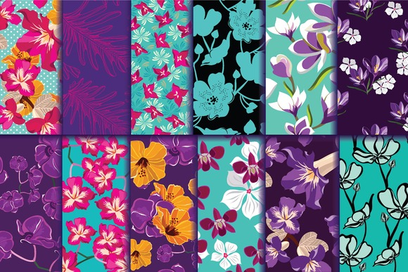 12 Seamless Floral Pattern
