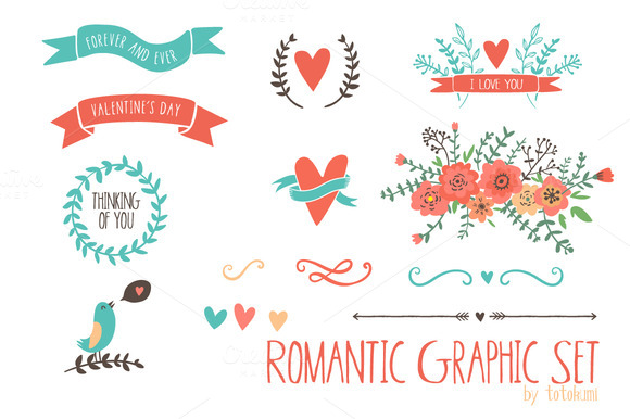 Romantic Graphic Set