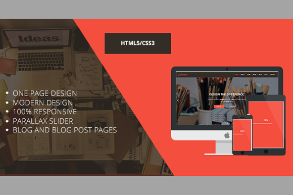 LORANS-Responsive One Page Parallax