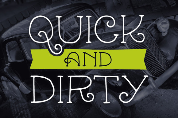 Quick Dirty Mini Font