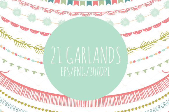 21 Garlands In Vector And PNG