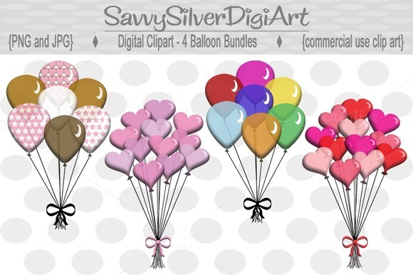 Colorful Digital Balloon Clipart