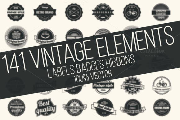 Vintage Pack 141 Vintage Elements