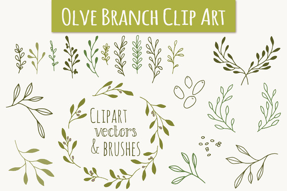 Olive Branch Clip Art Vectors