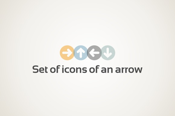 Set Of Icons Of An Arrow