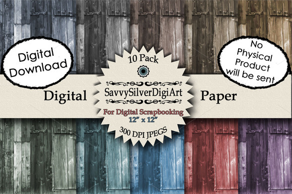 Barn Wood Plank Digital Paper