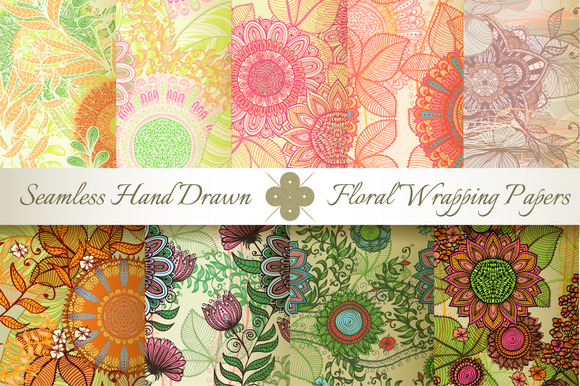9 Ornate Seamless Florals