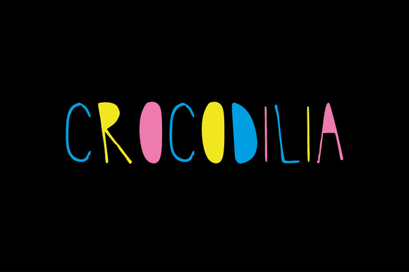 Hand Drawn Font- Crocodilia
