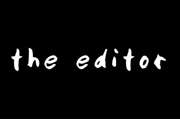 Hand Written Font- The Editor