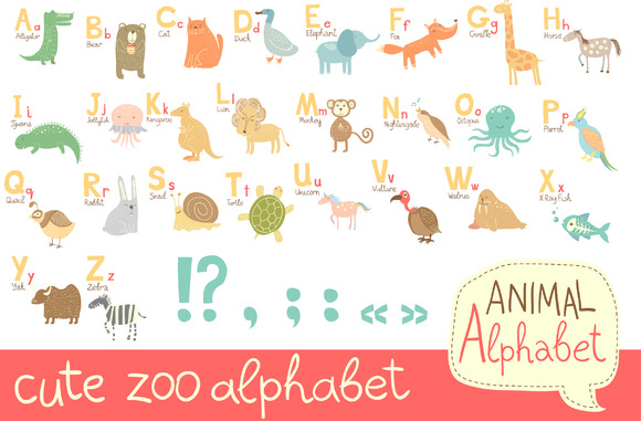 Alphabet For Kids In EPS10 And JPEG