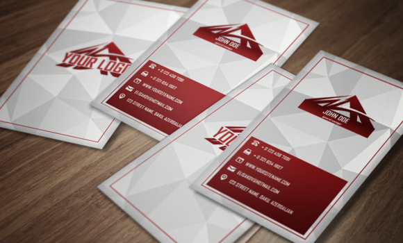 Red Tri Premium Business Card