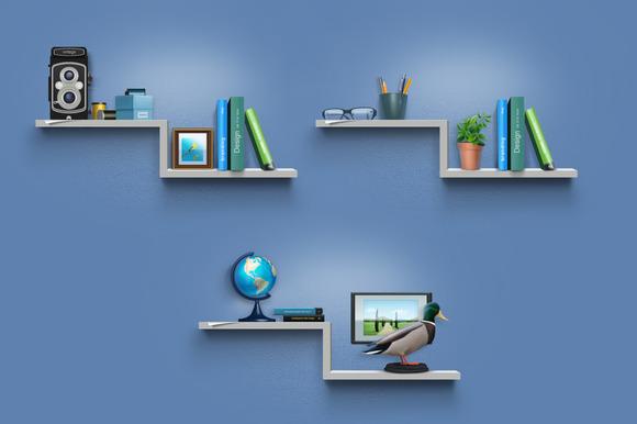 Hobby Icons As Shelf Stuff