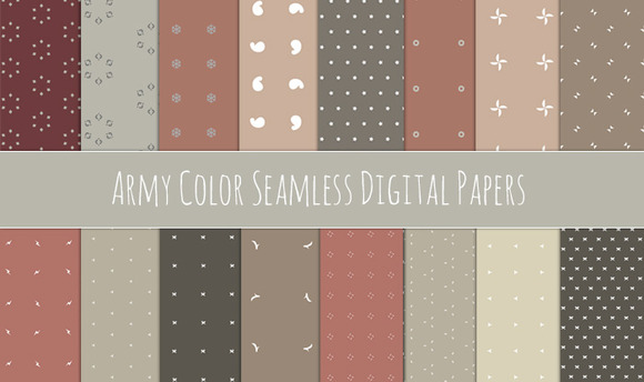 Army Color Seamless Patterns