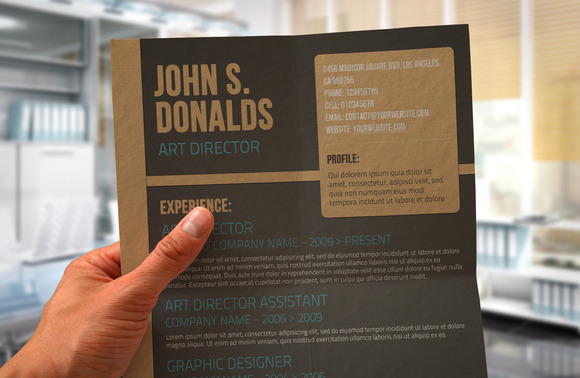 Craft Paper CV Design