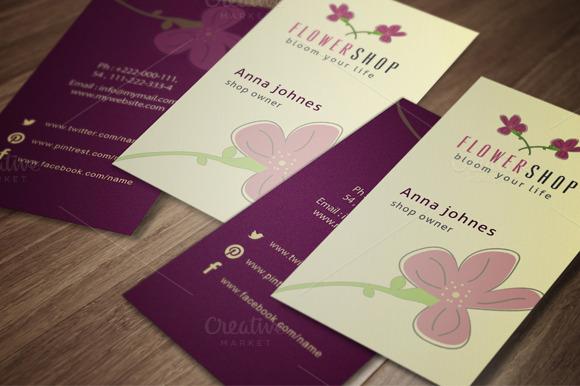 Flower Shop Business Card 2 Colors