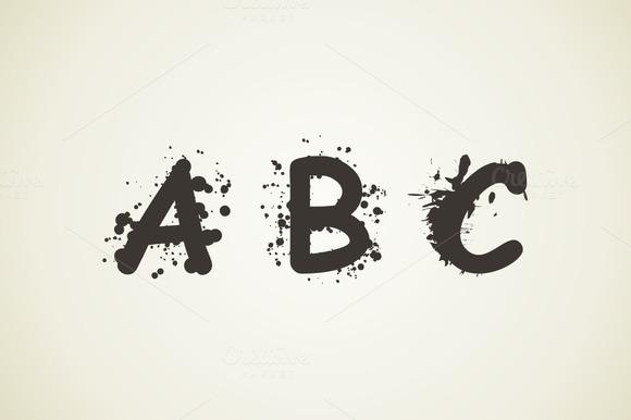 Alphabet A Blot