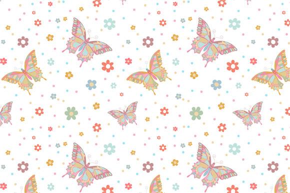 Seamless Pattern Butterflies