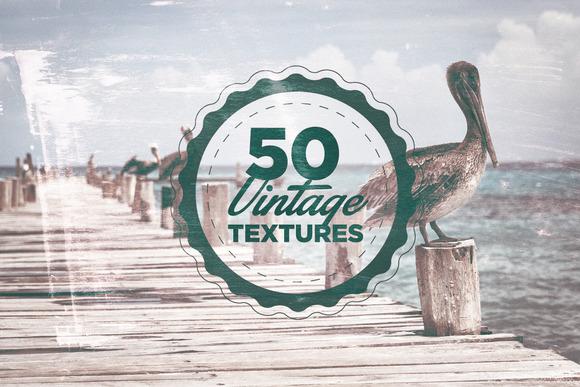 50 Vintage Grain Textures