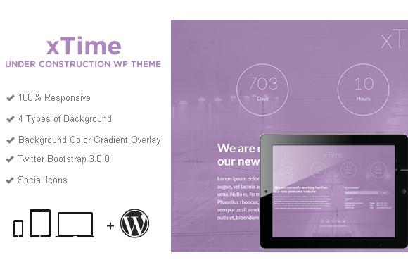 XTime Coming Soon Wordpress Theme