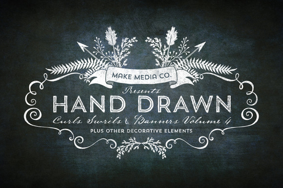 Hand Drawn Curls Banners Vol 4