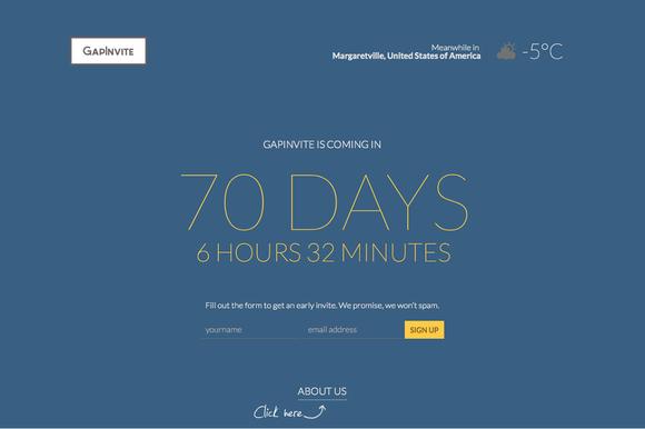 GapInvite Coming Soon WordPress