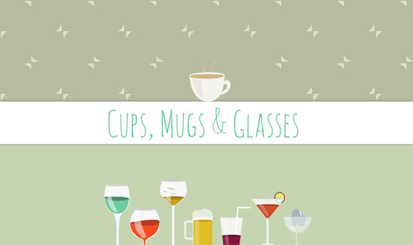 Cups Mugs Glasses Clip Art
