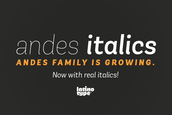 Andes Italic 50% Off