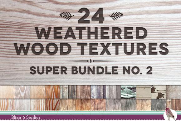 24 Weathered Wood Textures Bundle
