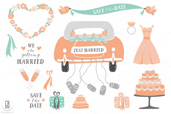 Just Married Wedding Clip Art
