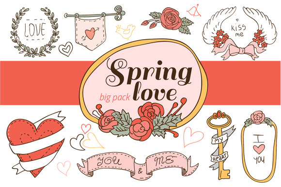 Hand Drawn Floral Clipart