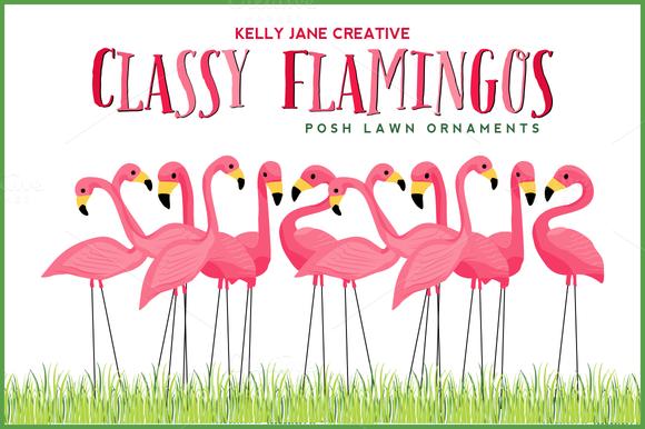 Classy Flamingo Lawn Ornaments