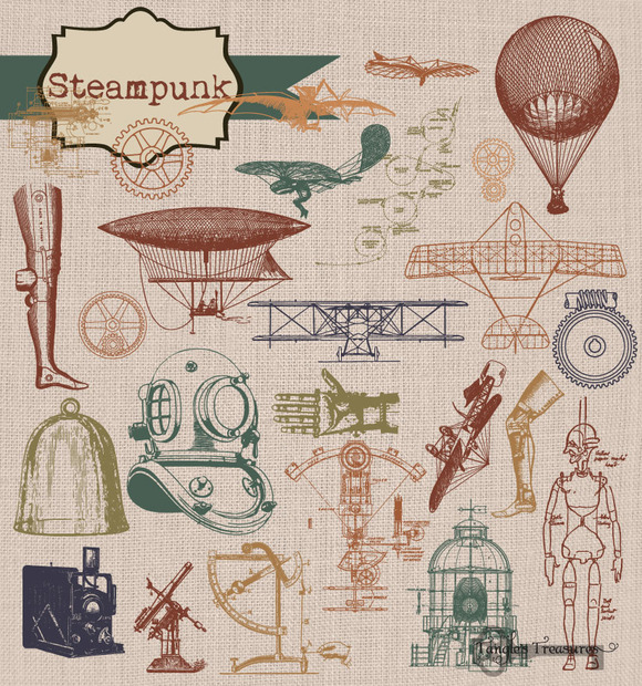 Steampunk Clipart Brushes
