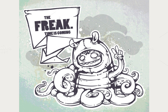 Graffiti Freak Illustration