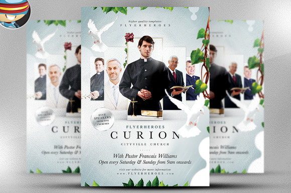 Curion Church Flyer Template