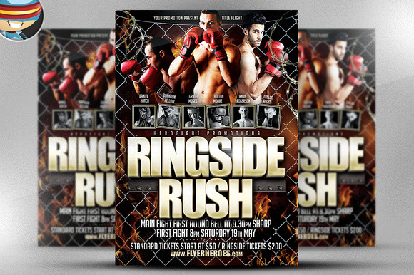 Ringside Rush Flyer Template