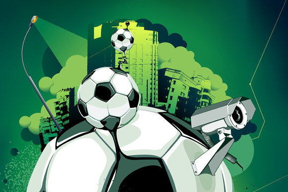 Abstract Football Illustration #3