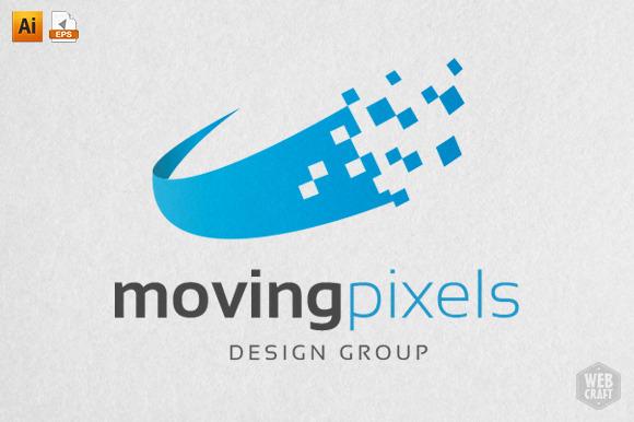 Moving Pixels Design Logo Template