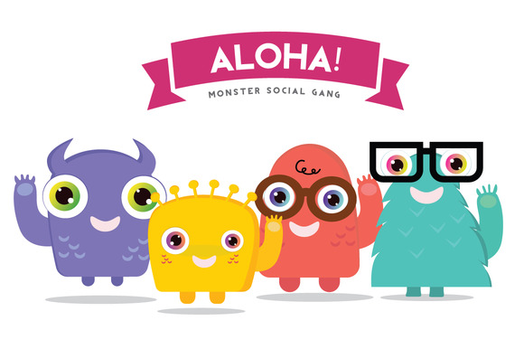 ALOHA Monster Logo Template