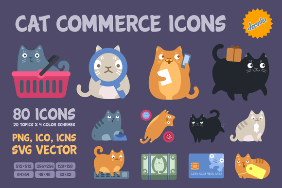 Cat Commerce Icon Pack