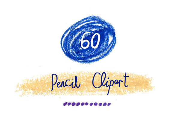 60 PNG Pencil Decor Clipart