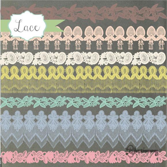 Vintage Lace Borders Clipart