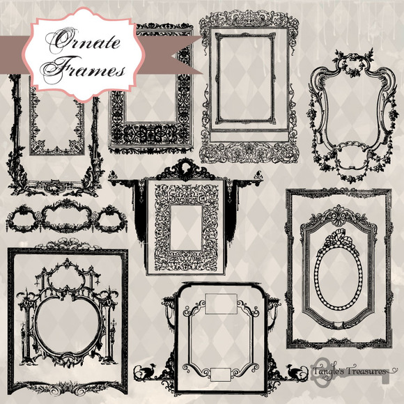 Ornate Frames Clipart Brushes