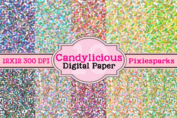 Candylicious Digital Papers