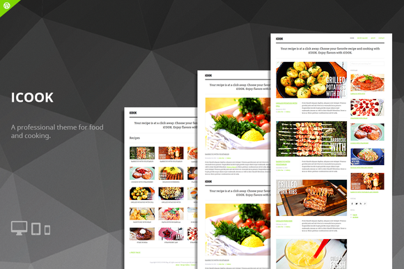 ICook Food Blog WordPress Theme