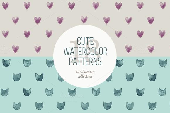 Cute Watercolor Patterns