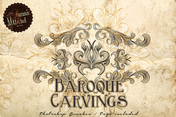 Carved Baroque Photoshop Brushes