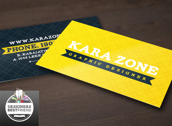 Yellow Special Business Cards